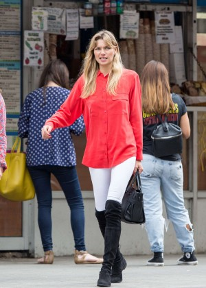 Jessica Hart in Tights out in NYC