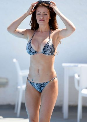 Jessica Impiazzi in Bikini at a pool in Melbourne