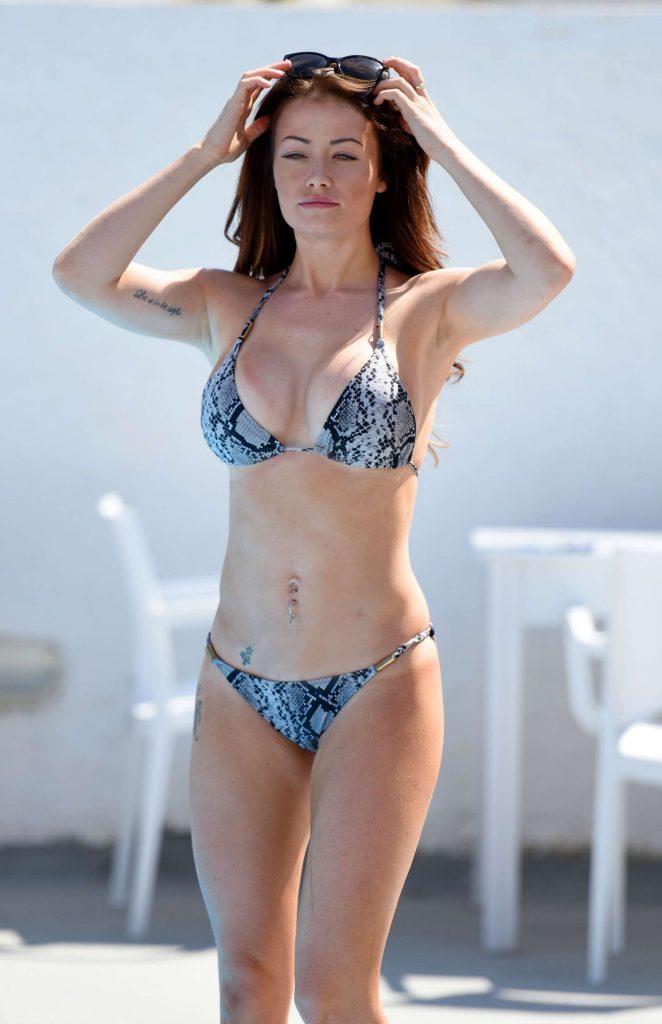 Jessica Impiazzi in Bikini at a pool in Melbourne