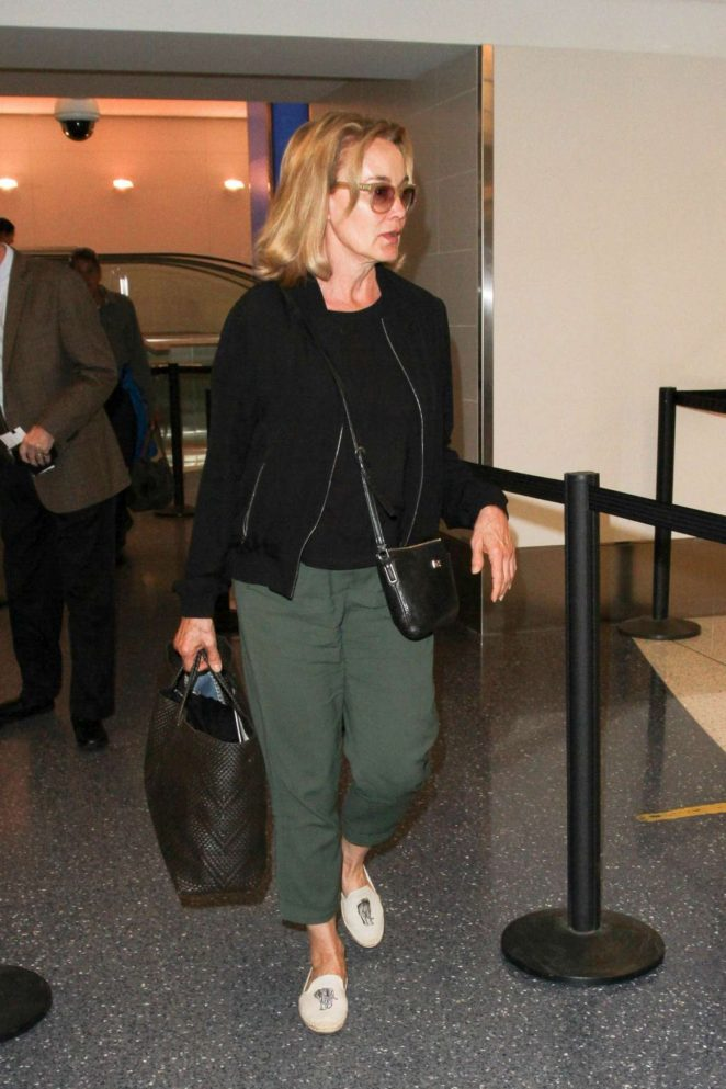 Jessica Lange at LAX Airport in Los Angeles