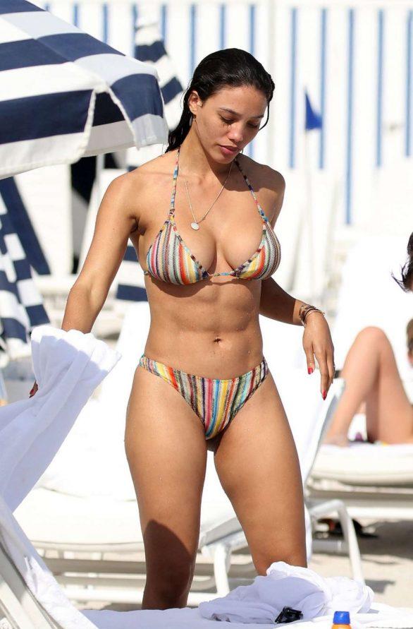 Jessica Ledon in Bikini on the beach in Miami