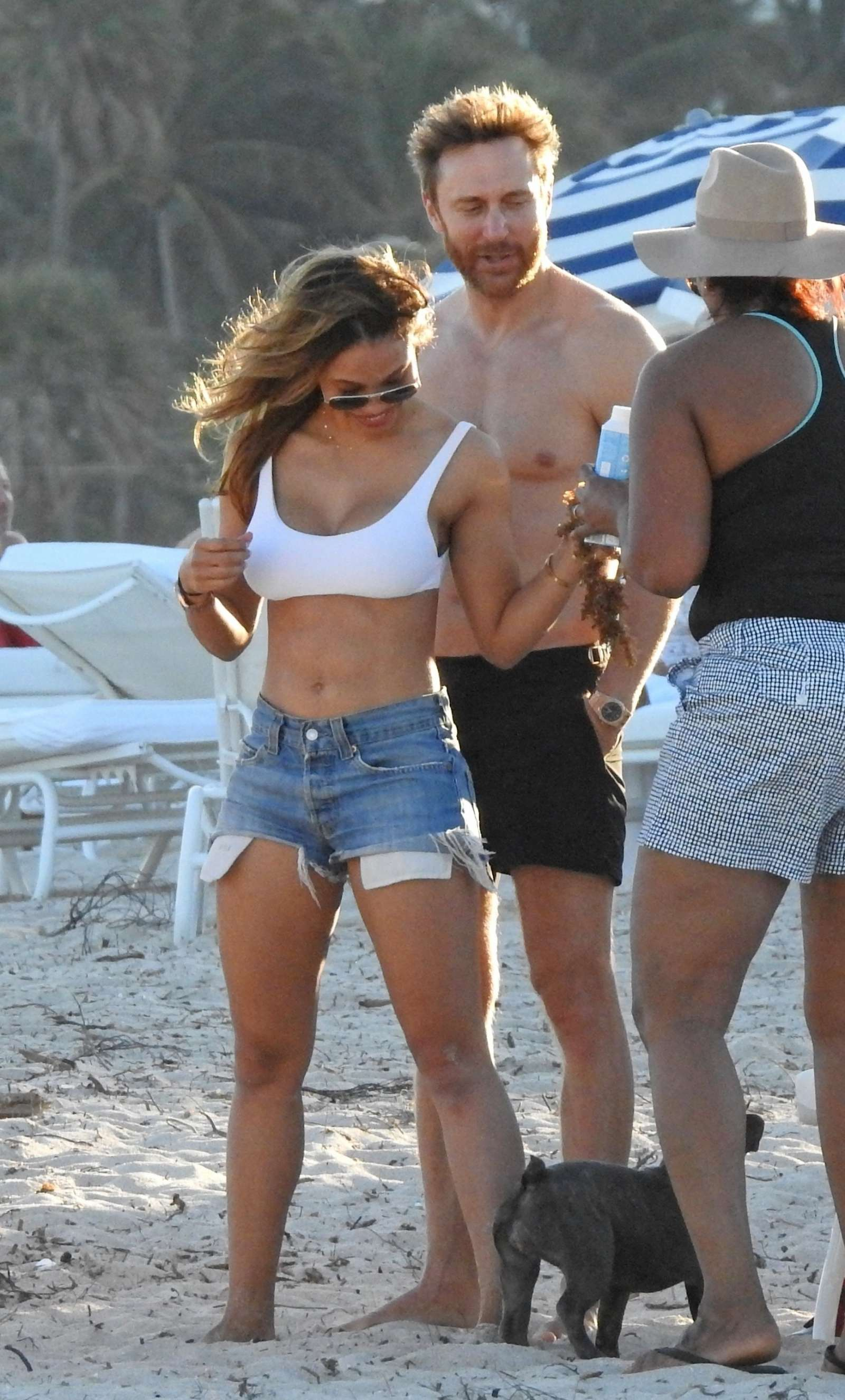 Jessica Ledon in Shorts on the beach in Miami
