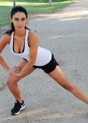 Jessica Lowndes - Exercises To Do At The Track To Burn Fat Fast Shoot