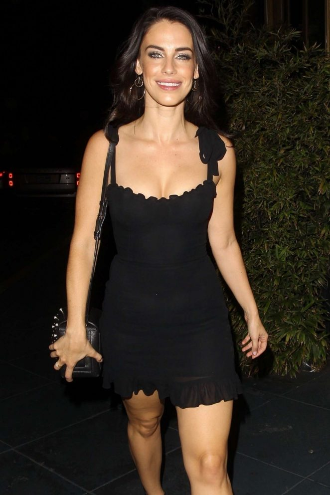 Jessica Lowndes in Black Mini Dress on her 30th Birthday in West Hollywood