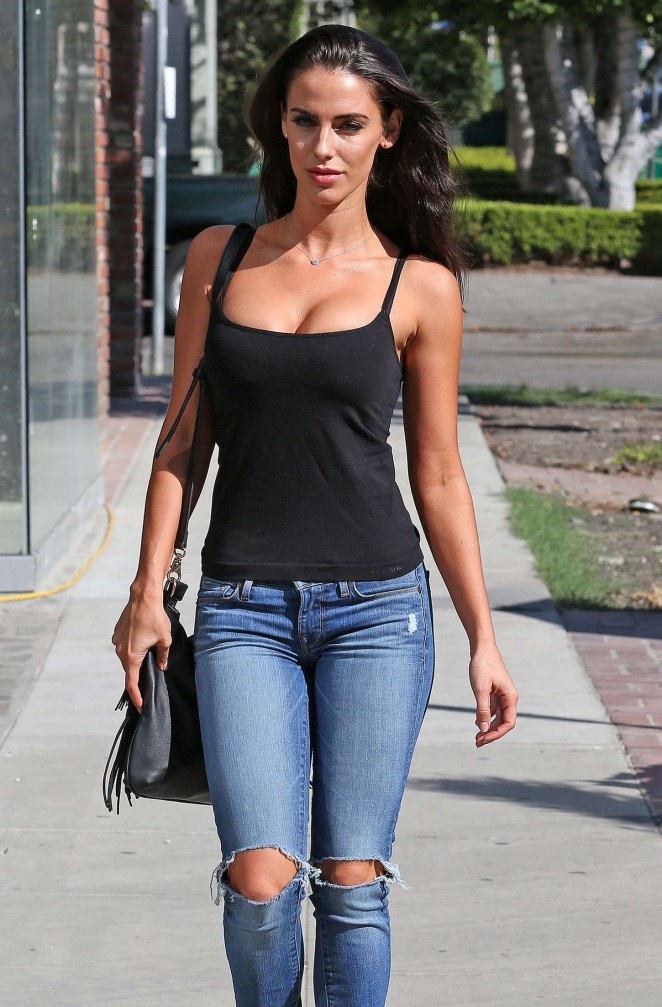 Jessica Lowndes in jeans out in LA