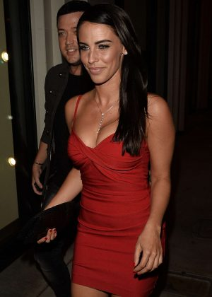 Jessica Lowndes in Red Dress at Catch LA in West Hollywood