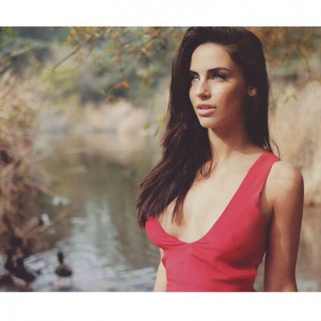 Jessica Lowndes in Red Dress - Photoshoot