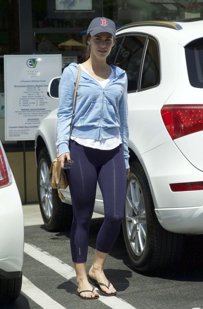 Jessica Lowndes in Purple Tights Out in LA