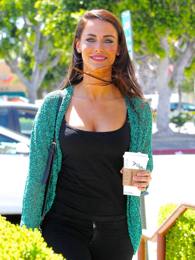 Jessica Lowndes Out getting Coffee -12