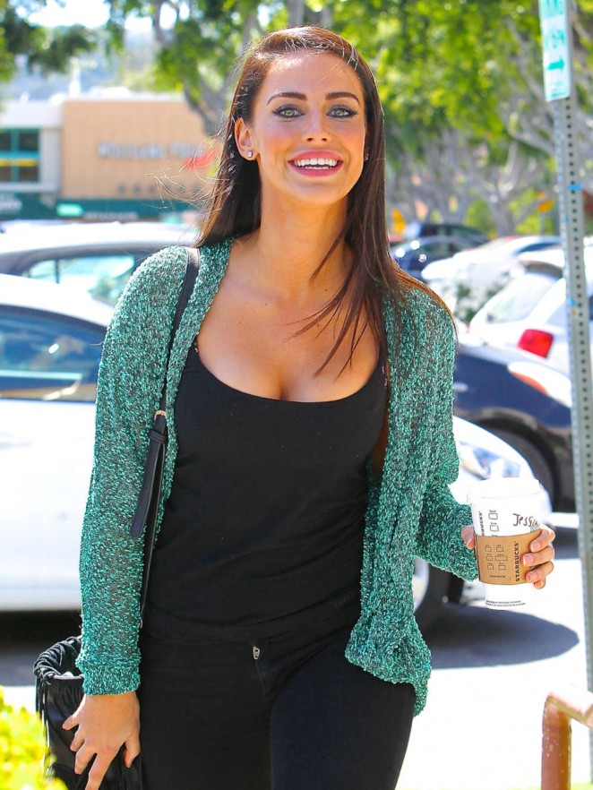 Jessica Lowndes Out getting Coffee in Studio City