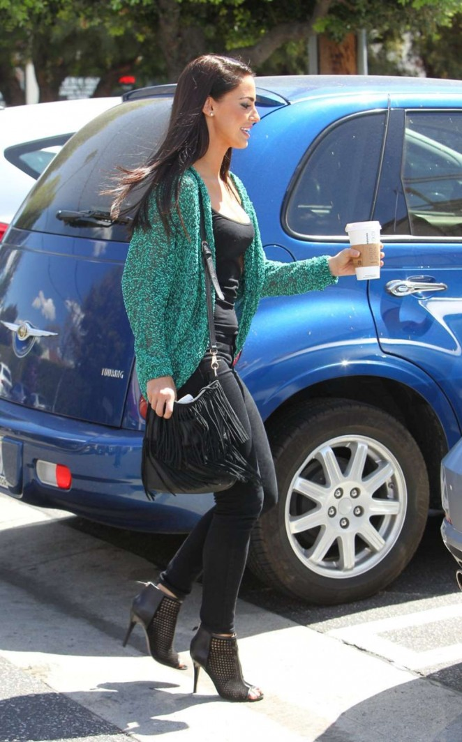 Jessica Lowndes Out getting Coffee -16