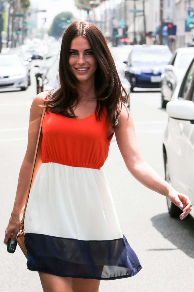 Jessica Lowndes out in LA