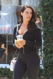 Jessica Lowndes - Outside Alfred's Coffee in Hollywood