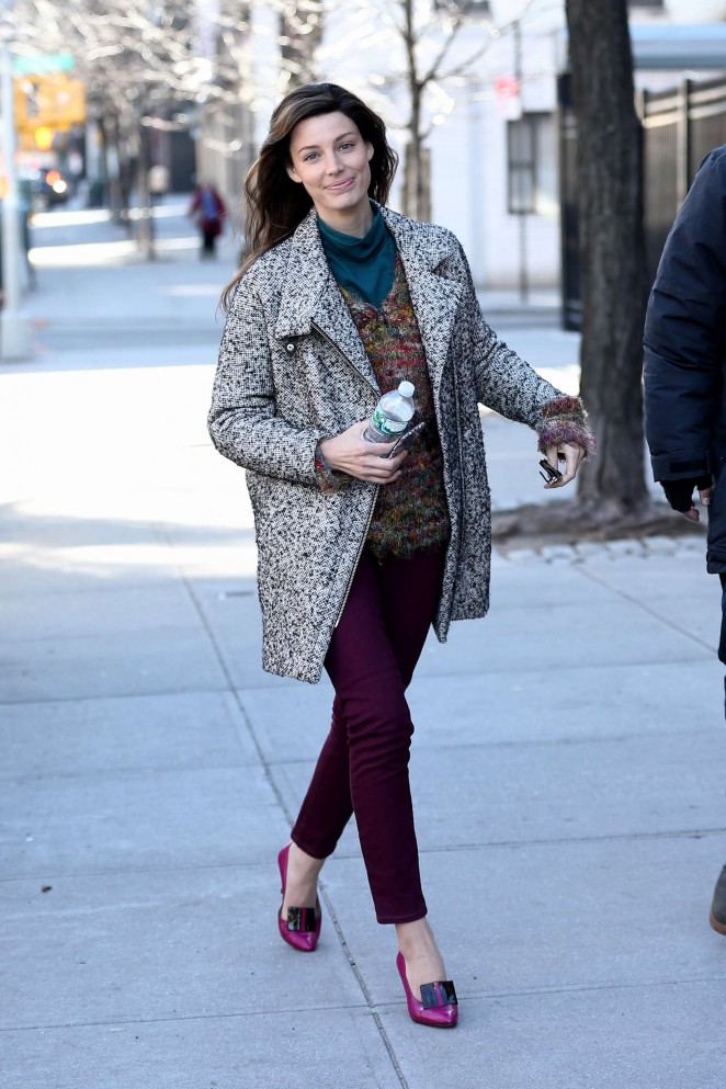 Jessica Pare out in New York