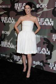Jessica Pare - 'SEAL Team' Premiere in Los Angeles