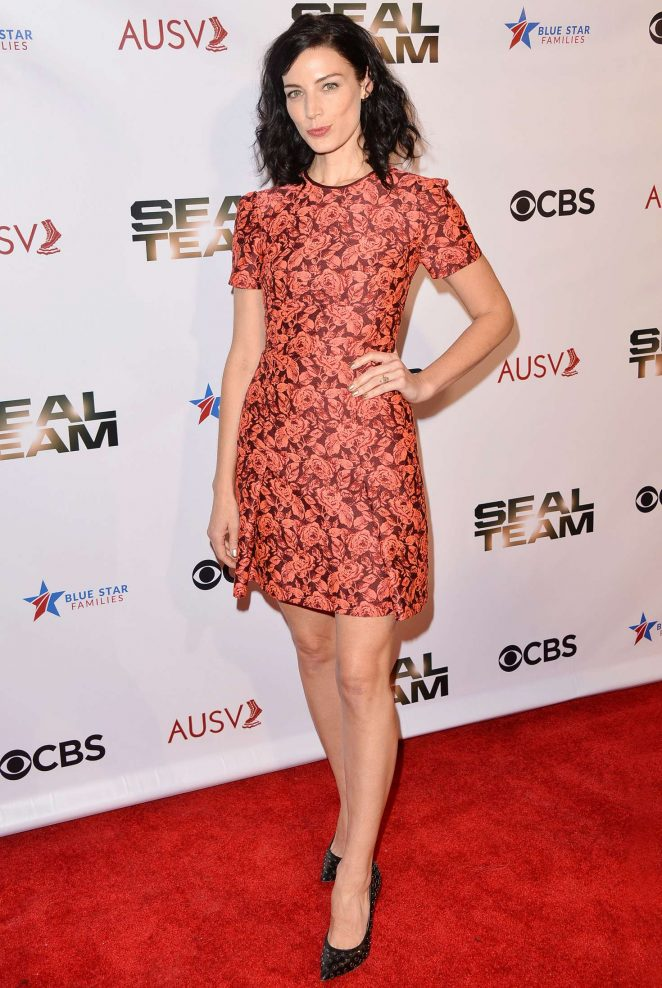 Jessica Pare – 'Seal Team' Season 2 Premiere in Los Angeles
