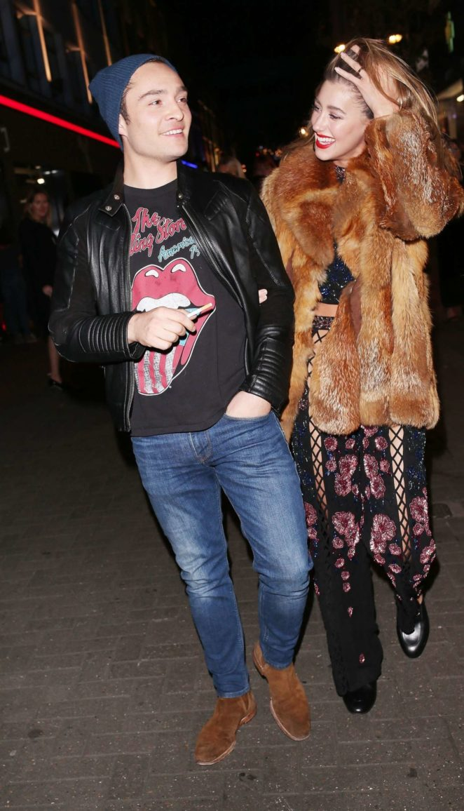 Jessica Serfaty and Ed Westwick - Attend the Nasty Girl Launch in London