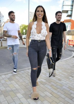 Jessica Shears - Arrives at an Engagement Party in Manchester