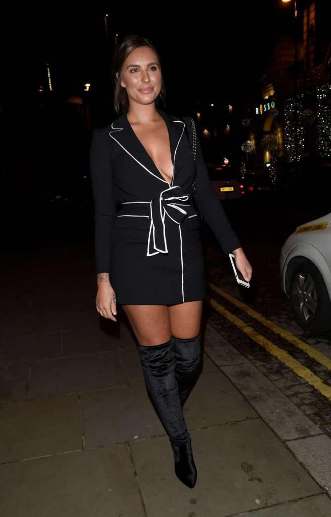 Jessica Shears at Missguide Christmas Night in Manchester