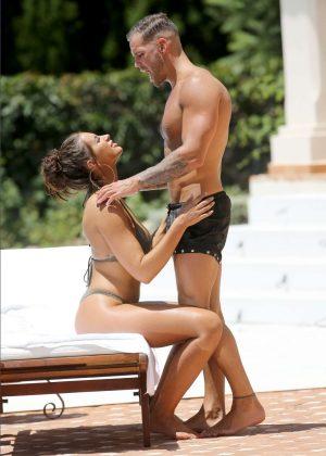 Jessica Shears - In Bikini by the Pool in Ibiza