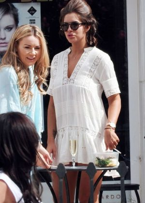 Jessica Shears on holiday in Marbella