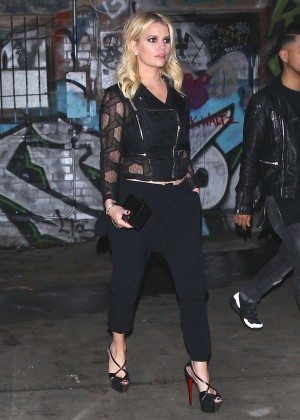 Jessica Simpson at a celebration for Linda Perry's song 'Hands Of Love' in LA