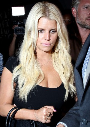 Jessica Simpson at Craig's Restaurant in West Hollywood