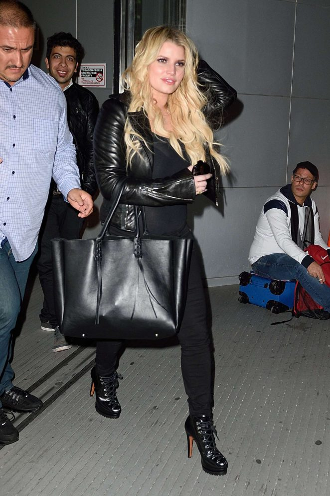 Jessica Simpson at JFK Airport in NYC