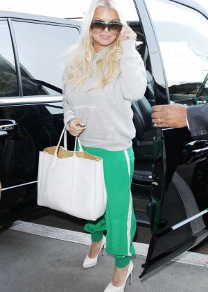 Jessica Simpson at LAX International Airport in LA