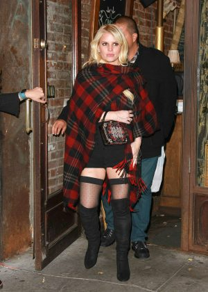 Jessica Simpson at Lil Frankie Restaurant in Manhattan