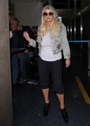 Jessica Simpson at the LAX airport in Los Angeles