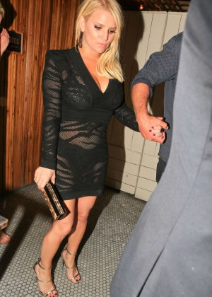 Jessica Simpson At The Nice Guy Nightclub In West