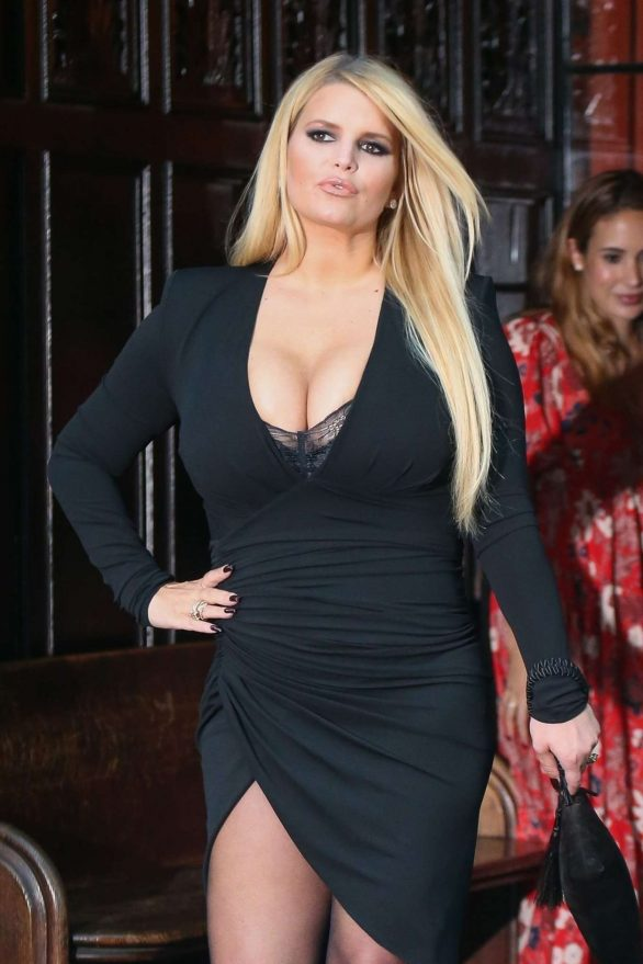 Jessica Simpson in Black Dress - Out in New York City