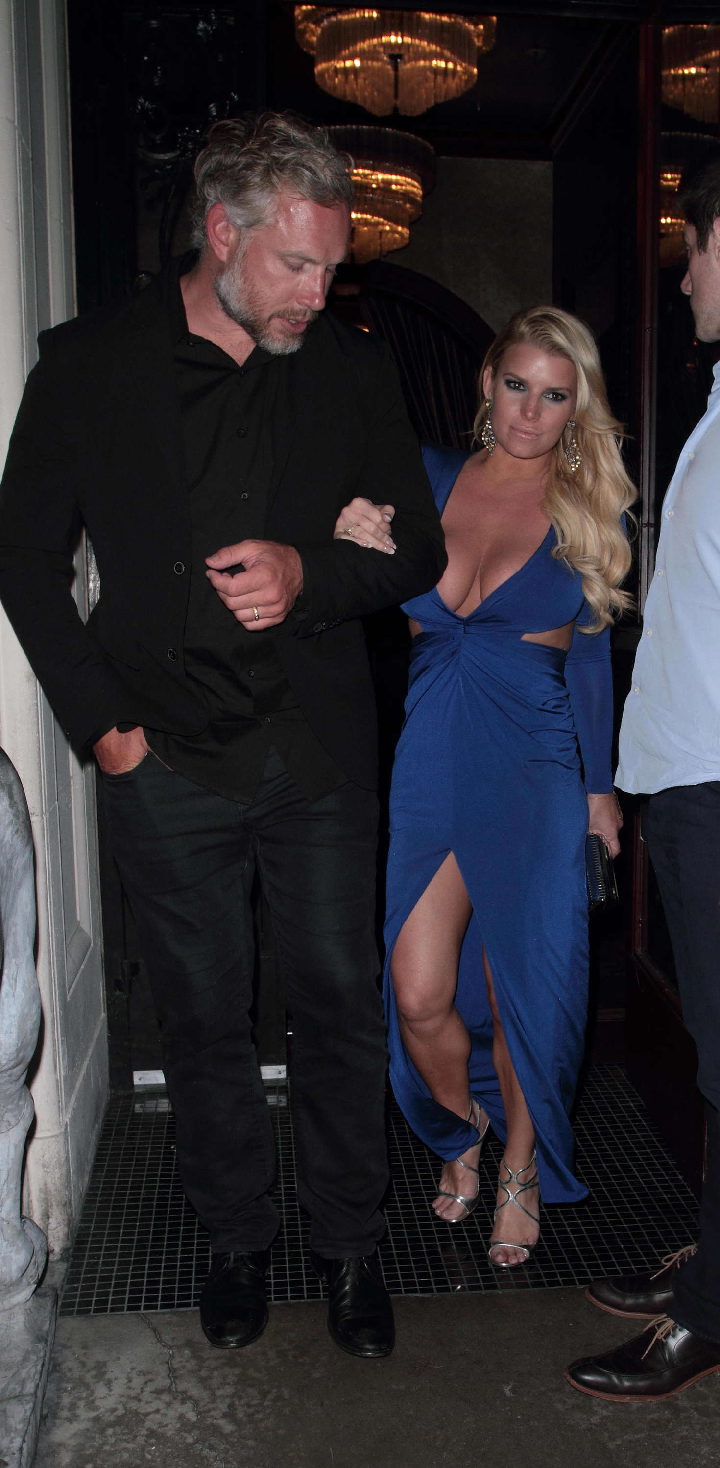 Jessica Simpson 2016 : Jessica Simpson in Blue Dress -20