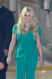 Jessica Simpson in Green Outfit - Out in Los Angeles