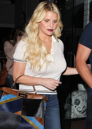 Jessica Simpson in Jeans out in Los Angeles