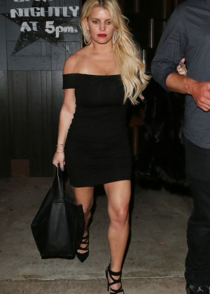 Jessica Simpson in Mini Dress out in Los Angeles