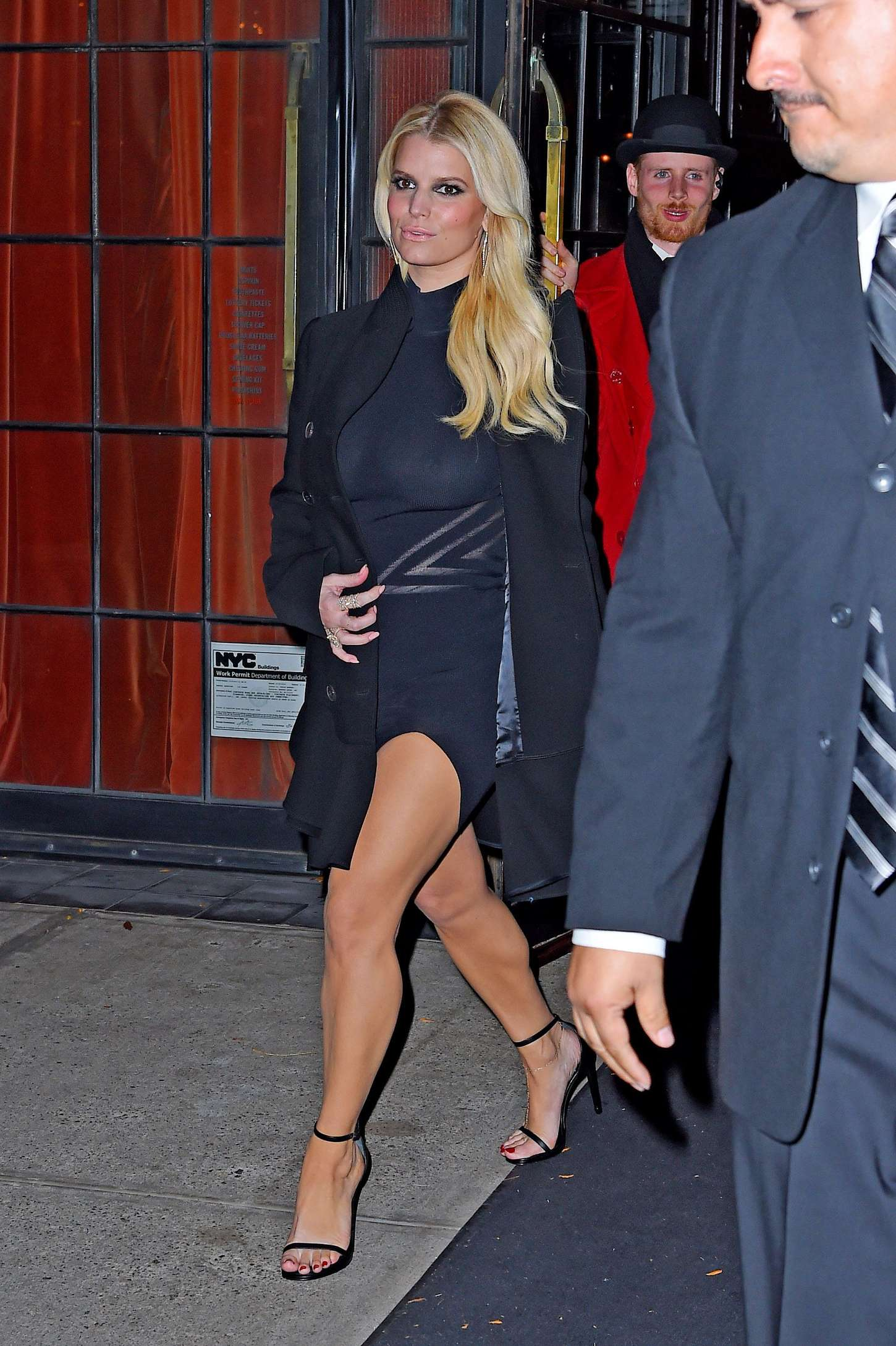 Jessica Simpson in Tight Dress in New York