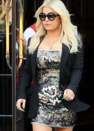 Jessica Simpson - Leaving the Bowery Hotel in NYC