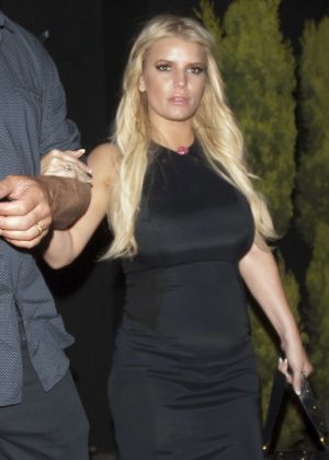 Jessica Simpson Leaving The Nice Guy in West Hollywood