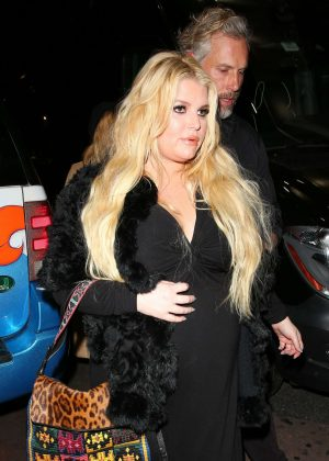 Jessica Simpson - Leaving The Roxy Theatre in LA
