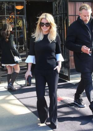 Jessica Simpson out in LA -01
