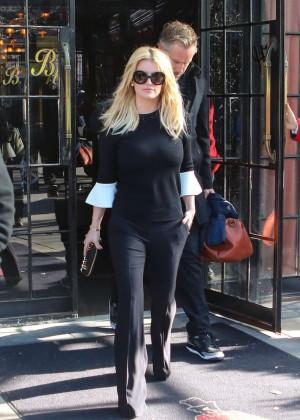 Jessica Simpson out in LA -04