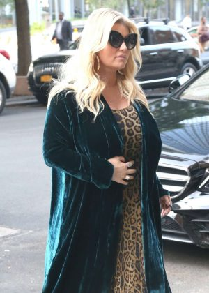 Jessica Simpson - Returns to The Greenwich Hotel in New York