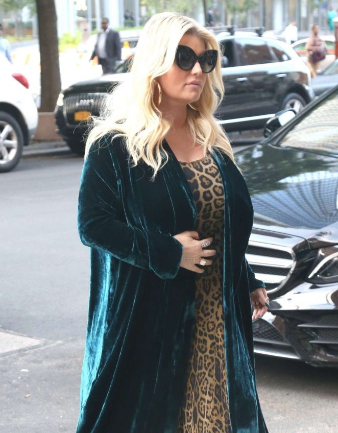 Jessica Simpson – Returns to The Greenwich Hotel in New York