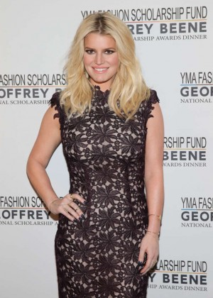 Jessica Simpson - YMA Fashion Scholarship Fund Geoffrey Beene National Scholarship Awards Gala in NY