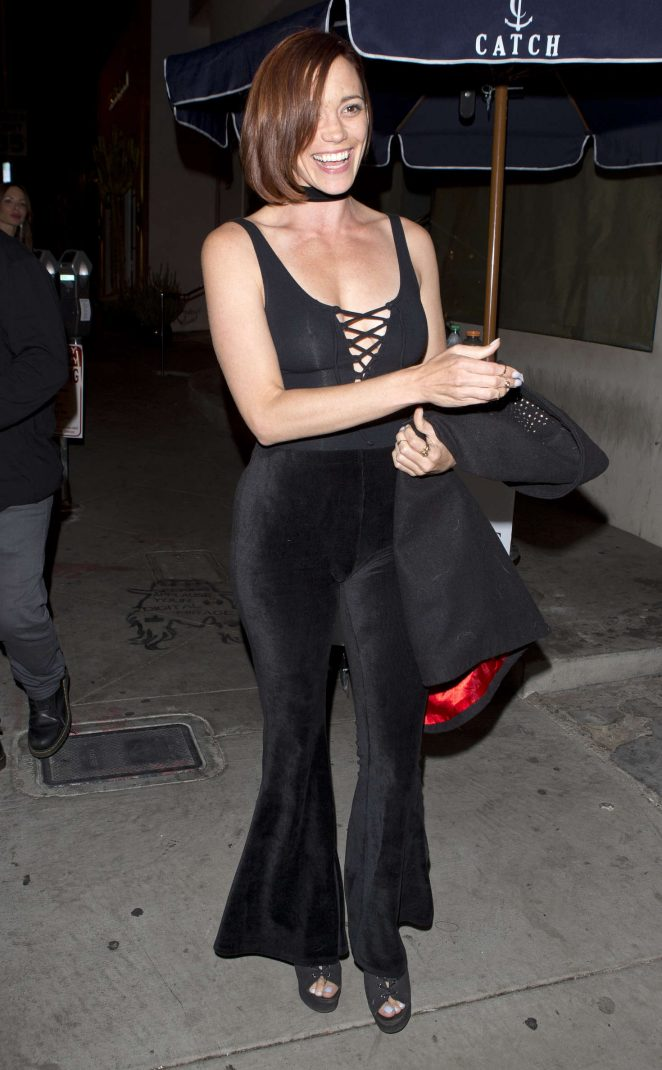 Jessica Sutta Leaving 'Catch' Restaurant in West Hollywood