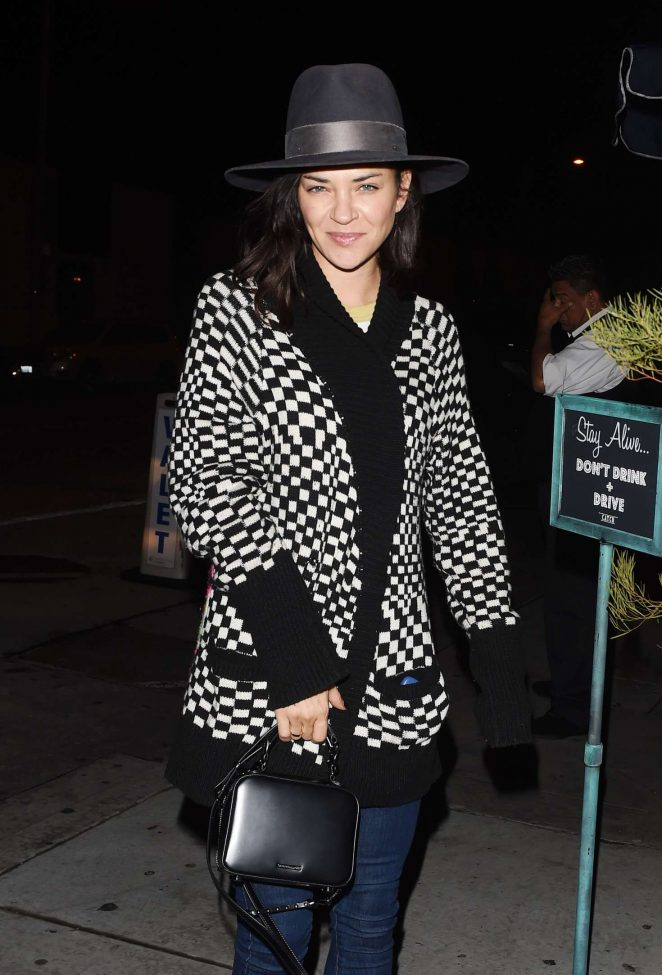 Jessica Szohr at Catch restaurant in Los Angeles