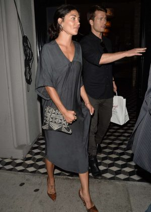 Jessica Szohr at Craig's restaurant in West Hollywood