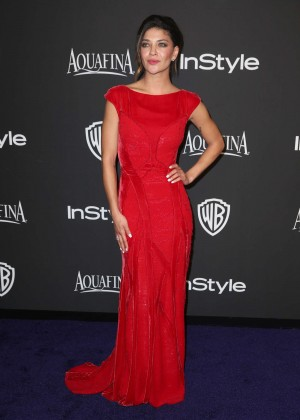 Jessica Szohr - InStyle And Warner Bros Golden Globes Party 2015 in Beverly Hills